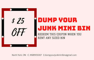 18 Yard Disposal Bin - Dump Your Junk (Rental Services)