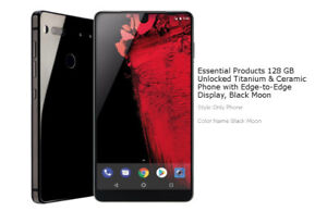 BRAND NEW USED ONE DAY Unlocked Essential Phone 128GB Black Moon