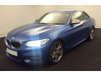 2016 BLUE BMW M235i 3.0 T SPORT COUPE PETROL MANUAL 2DR CAR FINANCE FR £75 PW
