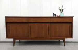 Vintage Walnut Dovetail Cabinet / Credenza (Teak Style)