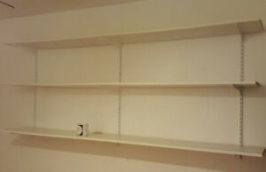 Rubbermaid 3 shelf unit 12 in x 82 in Excellent condition