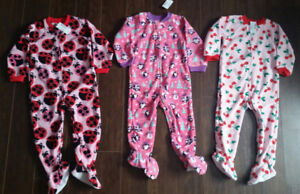 2T Fleece Footed PJ's - Brand New - $25 for all!