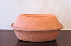 Terracotta Clay 4 Quart Roaster With Lid Made In Italy Ceramiche