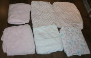 6 Fitted crib sheets  $ 7.50 each