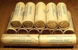 Australia 1981 Five Cent 5c Royal Australian Mint Roll x 1 roll
