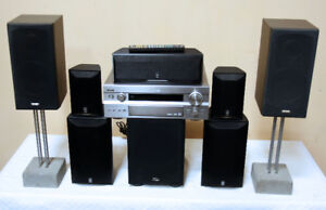 Superb  7.1 YAMAHA HOME THEATER w/ PARADIGM SEE VIDEO