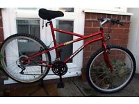 **MENS / WOMENS 18 SPEED BIKE - JUST DEEP CLEANED AND SERVICED - EXCELLENT**