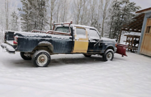 1989 Ford F-350 work truck with Snow Bucket