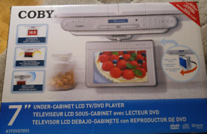 "Coby 7"" under-cabinet LCD TV/DVD player"