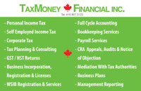 SMALL BUSINESS/TAX/BOOKKEEPING/TAX/PAYROLL/HST/WSIB