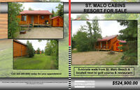 Cottage Turn Key Resort w/5 Cabins & 10 Lots 45 min to Winnipeg!