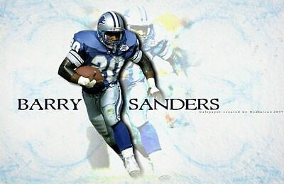 BARRY SANDERS DETROIT LIONS Poster Print 24x36 WALL Photo A (Barry Sanders Wall)