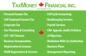 TAX & ACCOUNTING & PAYROLL & BUSINESS REGIS  & INCORPORA & HST