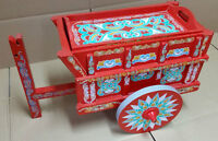 Hand Painted Decorative Wagon from Costa Rica