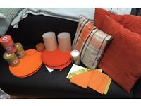 ORANGE kitchen and Living Space Items