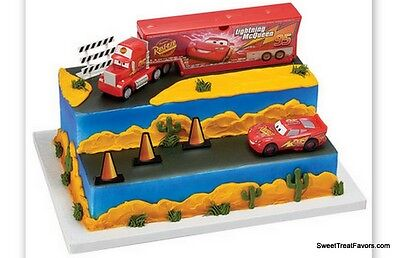 CARS 3 MINI CANDLE SET ~ Birthday Party Supplies Lightning McQueen Cake 4pc