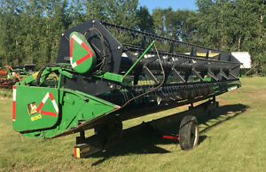 John Deere 930 Straight Cut Header - with Trailer
