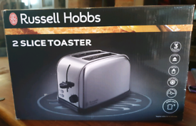 Russell Hobbs 2 slice toaster. Stainless steal. New Boxed