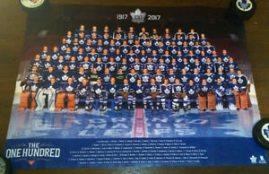 TORONTO MAPLE LEAFS 100 Greatest HOCKEY POSTER CANADIAN TIRE 100