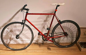 Red Fixed Gear (flip-Flop hub) Bike