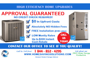 High Efficiency Furnace for $0 Down plus FREE installation