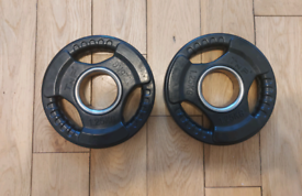 Olympic 2 inch TNP rubber tri grip weight plates immaculate