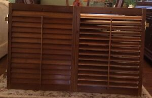 Wooden Shutters – 2 sets for Sale Oakville / Halton Region Toronto (GTA) image 1