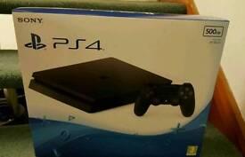 Playstation 4 - 500gb - Jet Black - Brand New