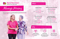 We are hiring Health Care Aides and Companion Caregivers