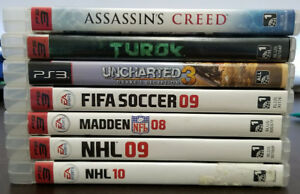 SEVERAL PS3 GAMES AVAILABLE!!! NEED GONE ASAP