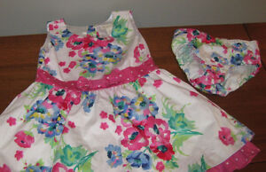 Children's Place Floral Summer Dress with Diaper Cover - Size 2T