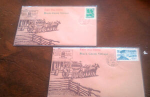 First Day Cover, Black Creek Village, 1977, Stamps