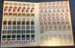50 Stock books with stamps in them - various countries
