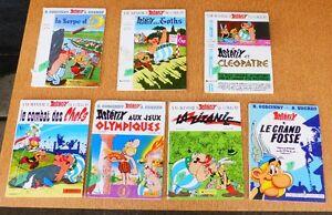 7 bandes dessinées  Astérix      7 Asterix comic books