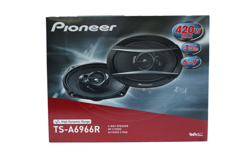 "Pioneer TS-A6966R 6"" x 9"" 3-Way TSA Series Coaxial Car Speakers - Black"