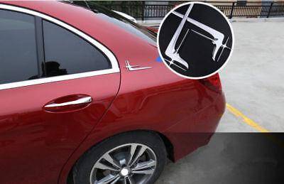 2Pcs Chrom Plastik Namensschild Auto Hinten Fender Aufkleber Abzeichen Emblem