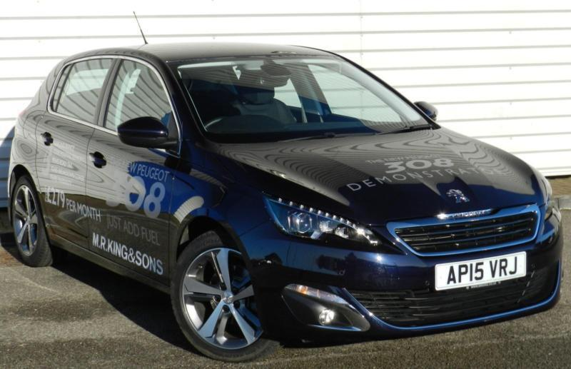 peugeot 308 allure 1 2 e thp puretech 5dr petrol manual blue in woodbridge suffolk gumtree. Black Bedroom Furniture Sets. Home Design Ideas