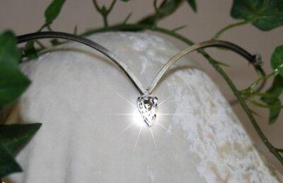 iadem Stirnschmuck Tiara Braut Fee Elfe rot oder kristall (Mittelalter Tiara)