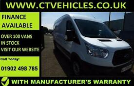 2016 16 plate Ford Transit 2.2TDCi 125PS RWD 350 L3H2 LWB FORD WARRANTY