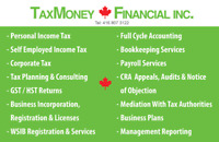 TAX& ACCOUNTING & PAYROLL & BUSINESS REGIS & INCORP & HST