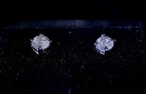 0.50 ct. Round Cut Diamond Stud Earrings
