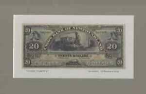 1889 Historic Reproduction of Union Bank of Newfoundland $20.00