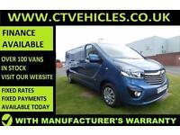 2016 16 Vauxhall Vivaro 1.6CDTi 120PS BiTurbo Sportive 2900 ecoFLEX LWB L2H1 L2