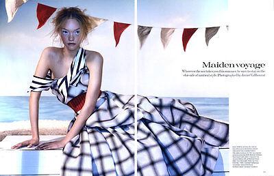 """2005 Javier Vallhonrat Gemma Ward magazine editorial - """"Maiden Voyage"""""""