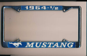 1964 1/2 FORD MUSTANG USED LICENCE PLATE HOLDER ONLY!
