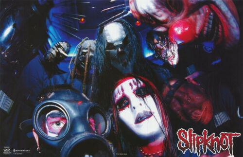 LOT OF 2 POSTERS :MUSIC: SLIPKNOT - GROUP POSED      FREE SHIP   #7593    LP33 O