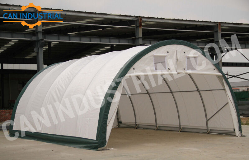 Fabric Storage Shelters : Portable fabric storage building tent temp