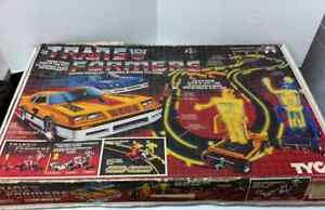 Transformers Electric Racing Set G1 Tyco 1985 RARE with BOX