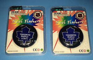 Lot of 2 Toronto Maple Leafs Kool Flashers Pin Button NEW/SEALED