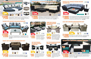 High End Quality Hand Made Wicker Outdoor Sets Now up to 35% OFF